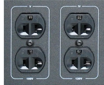 Розетки VOLTER-3500 ПТс с напряжением 100 и 120 Вольт